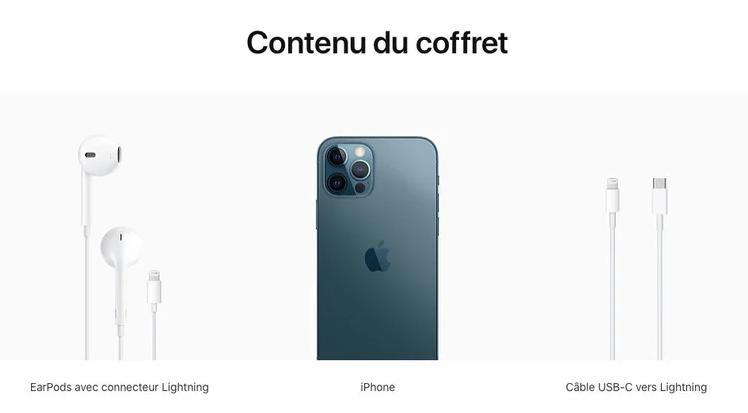 cargador del iPhone 12