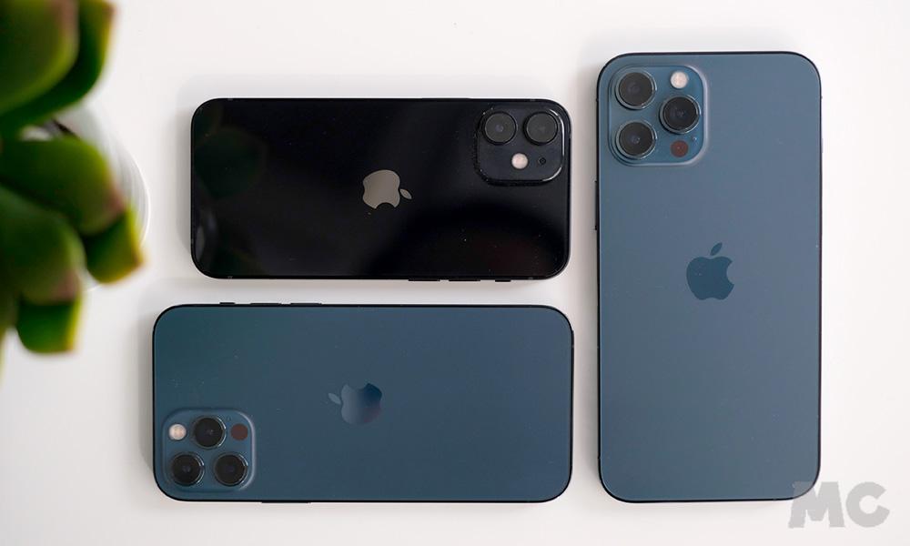 Comparativa tamaños iPhone 12 mini, iPhone 12 Pro y iPhone 12 Pro Max