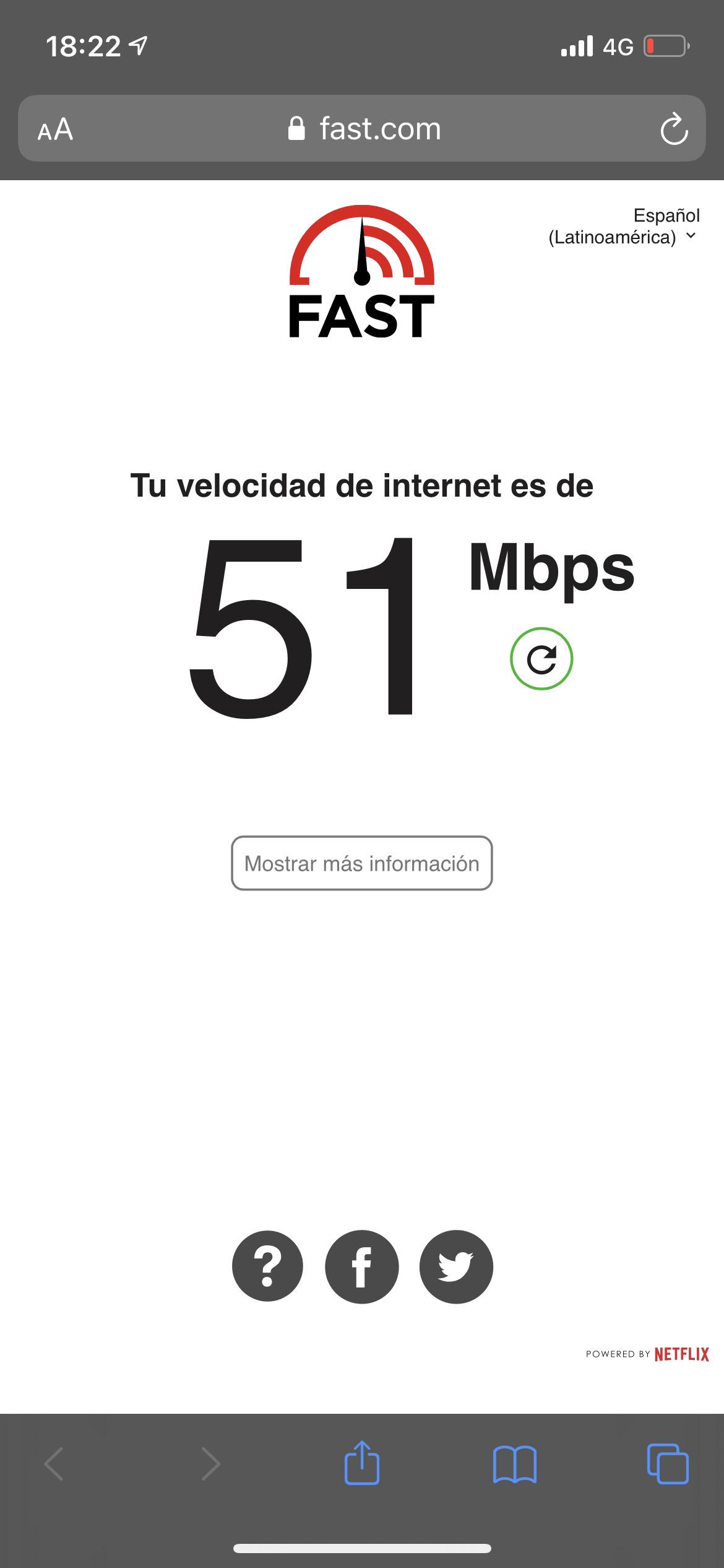 Pruebas de velocidad 4G con iPhone 12