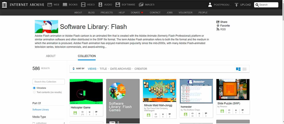 Internet Archive will retain part of Flash