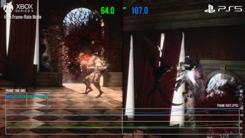 Comparativa PS5 vs Xbox Series X Devil May Cry 5 High Frame Rate Mode
