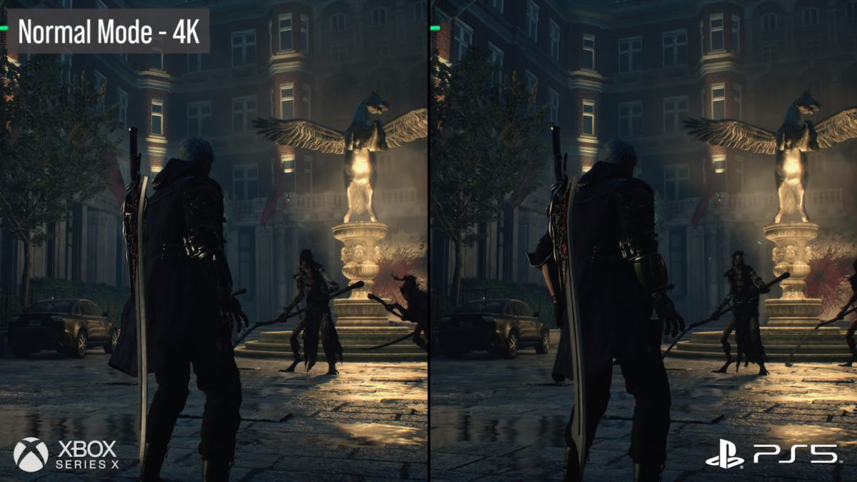 Comparativa PS5 vs Xbox Series X Devil May Cry 5 Normal Mode 4K