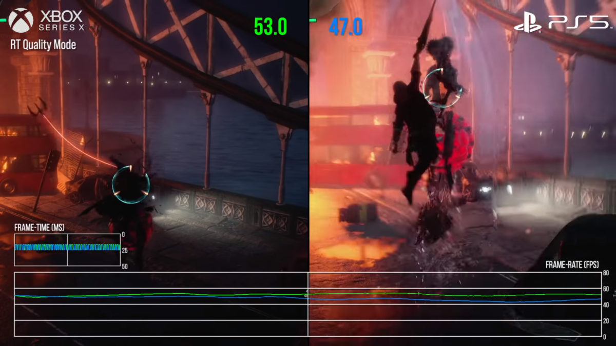 Comparativa PS5 vs Xbox Series X Devil May Cry 5 Ray Tracing Quality Mode