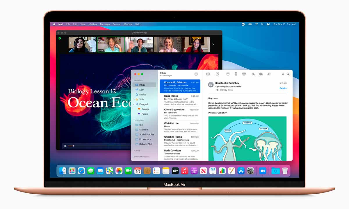 El MacBook Air con M1 es similar al modelo anterior con Intel