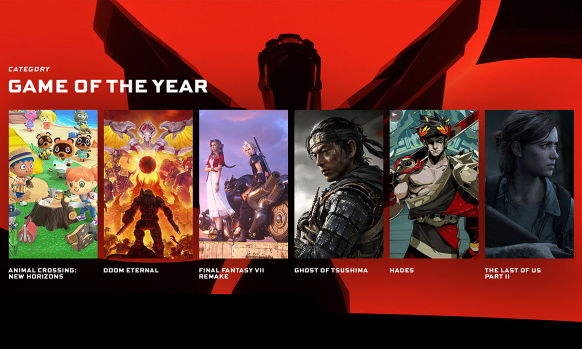 The Game Awards 2020 GOTY Game of the Year