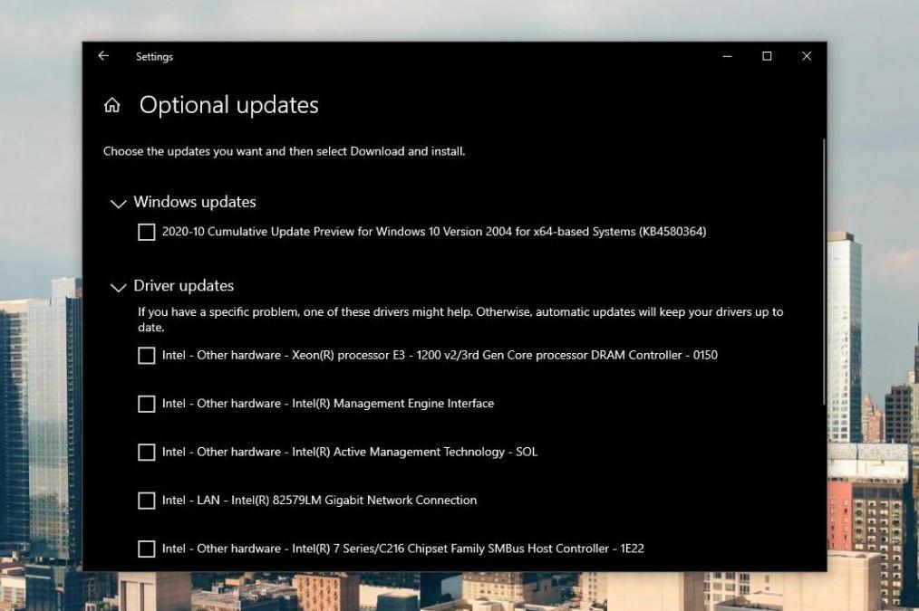 controladores en Windows 10
