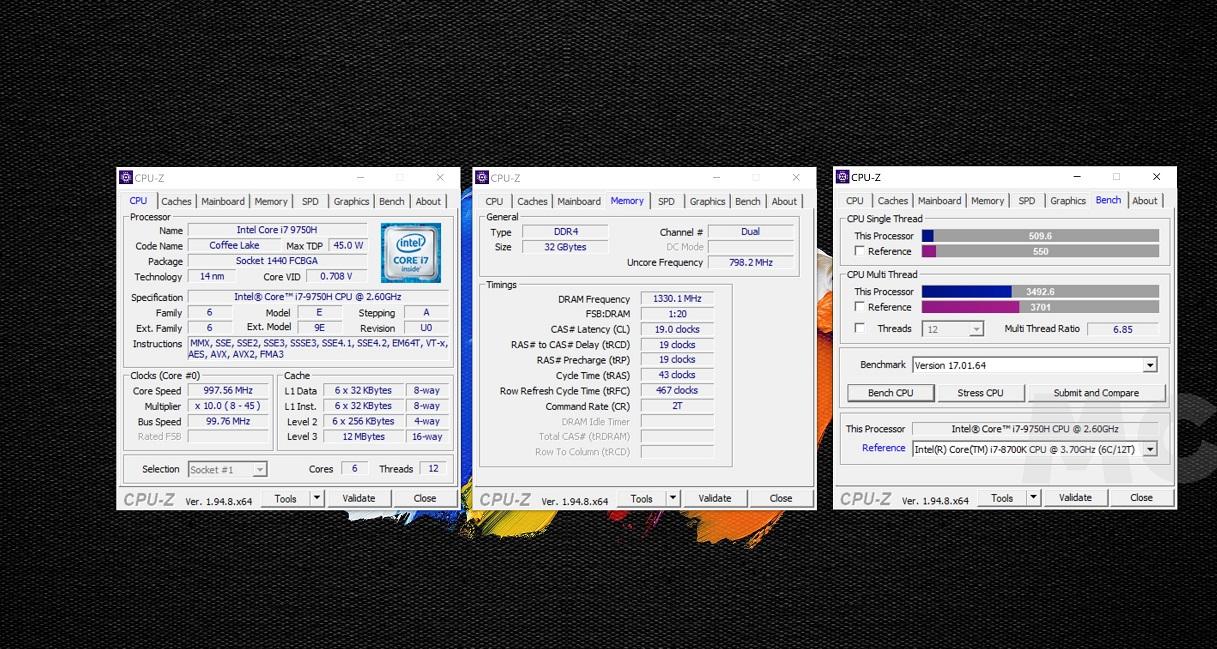 Acer ConceptD 7 CPU Z