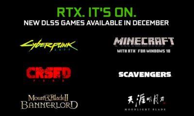 Cyberpunk 2077, Minecraft RTX y otros 4 juegos reciben soporte DLSS