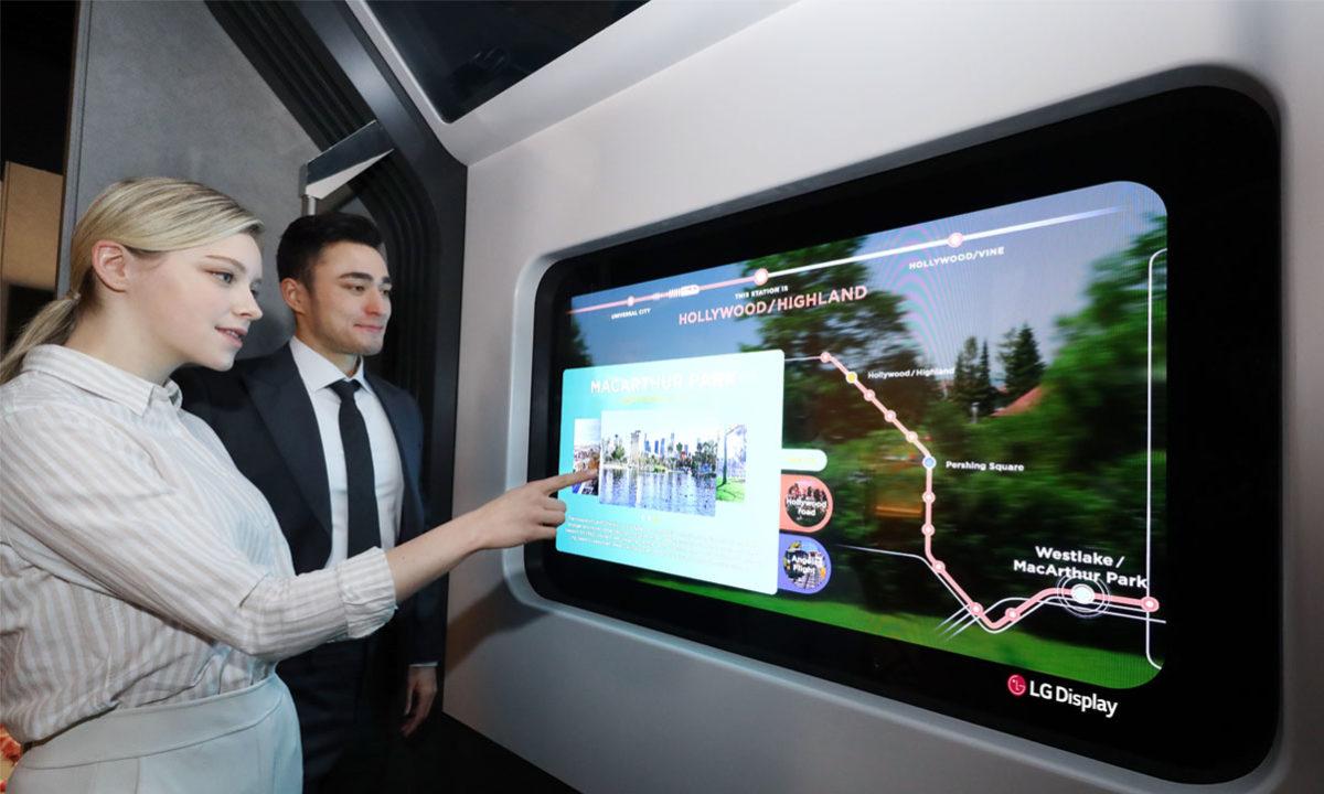 LG Display pantalla OLED transparente CES 2021