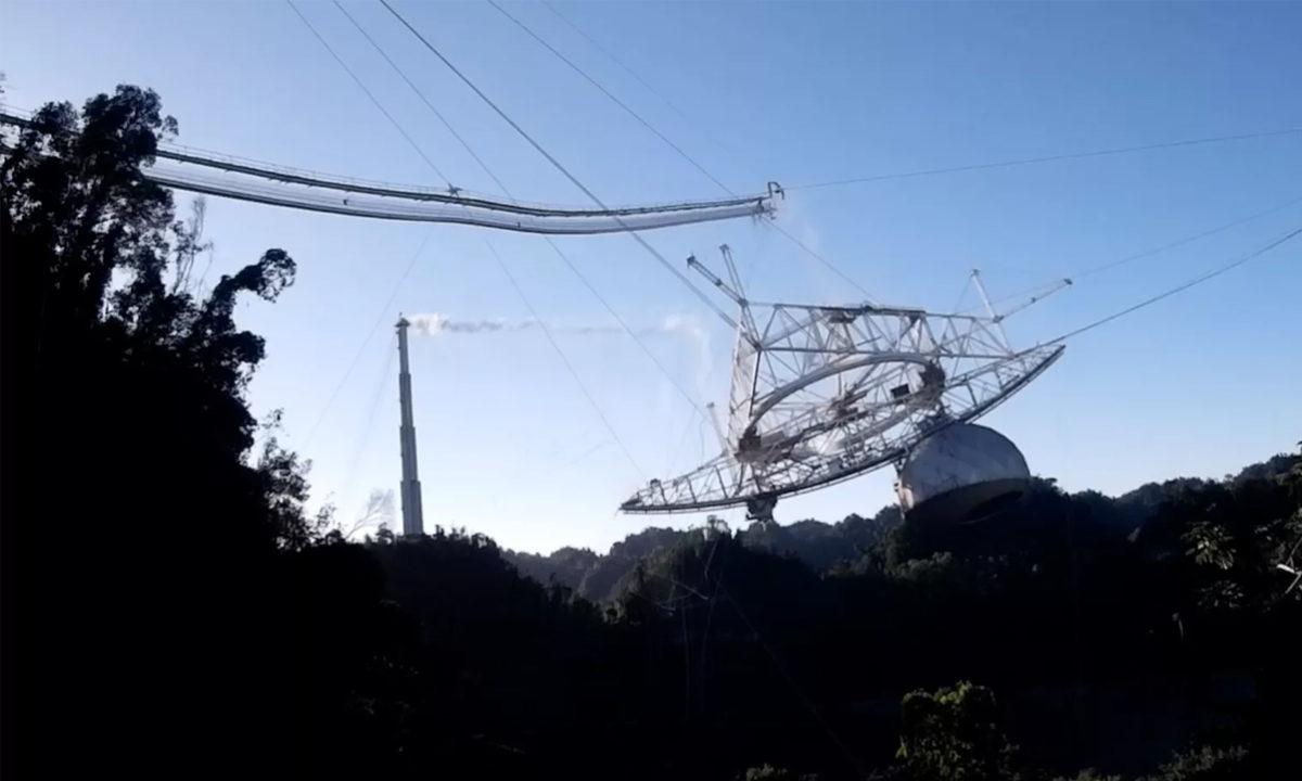 Video caida observatorio de Arecibo