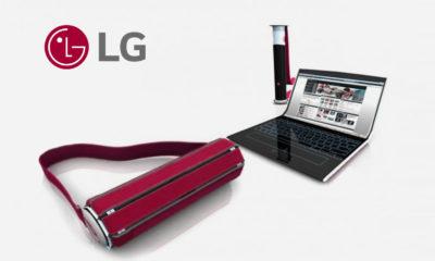 LG ordenador portátil pantalla enrollable