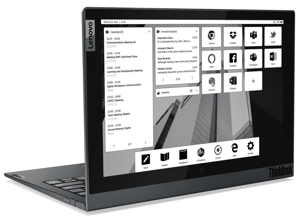 Lenovo actualiza sus portátiles ThinkBook, incluyendo un modelo con doble pantalla E-ink 36