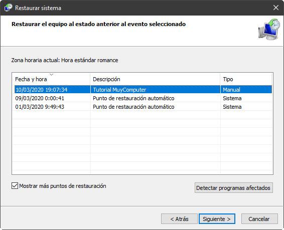 System Restore, un salvavidas contra los fallos de Windows 10 39