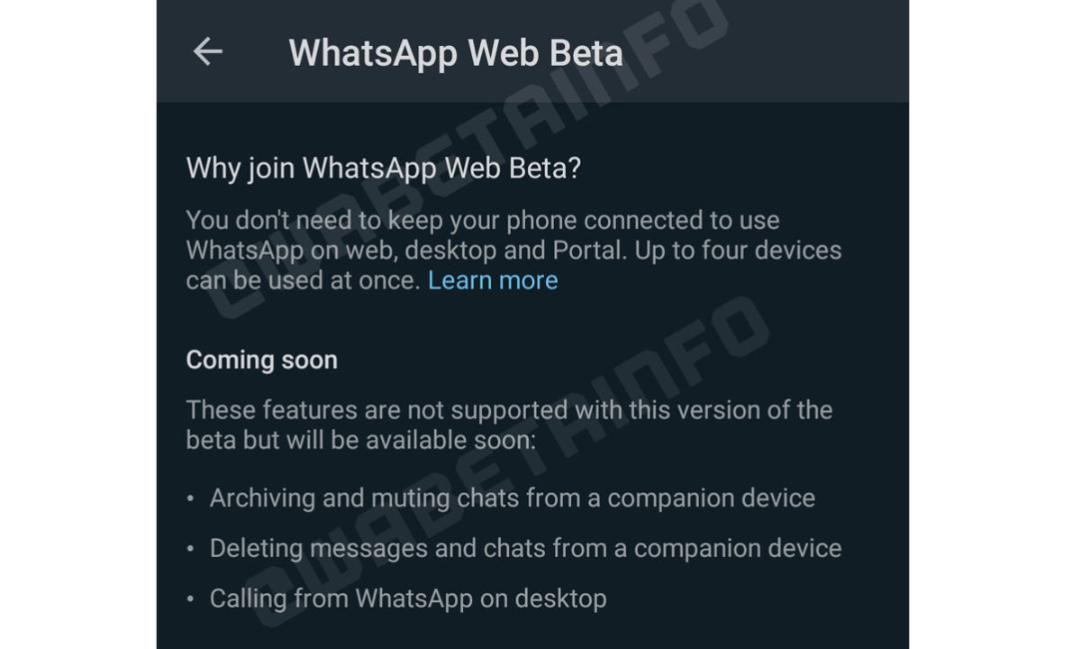WhatsApp Web Beta Multidispositivo