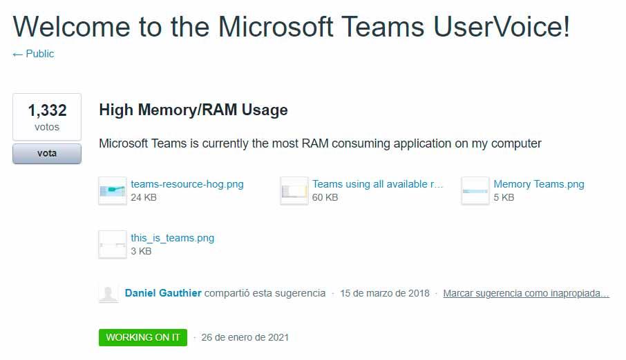 Microsoft Teams mejorará su gestión de memoria