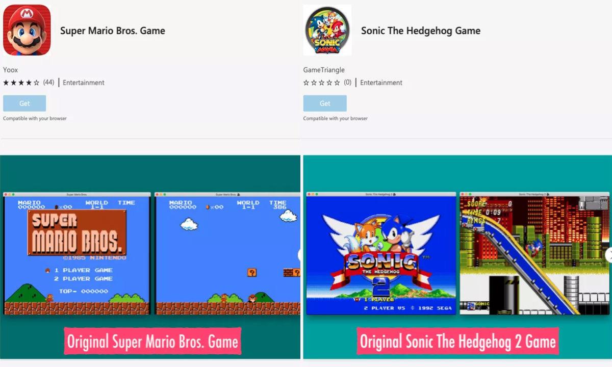 Microsoft Edge extensiones juegos piratas