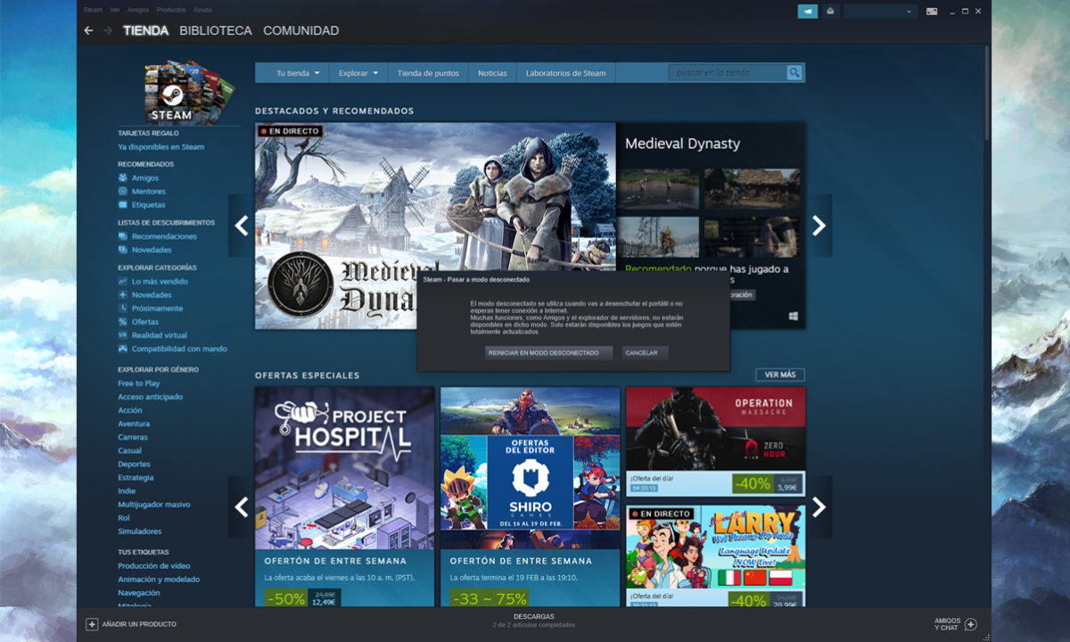 Steam without internet connection