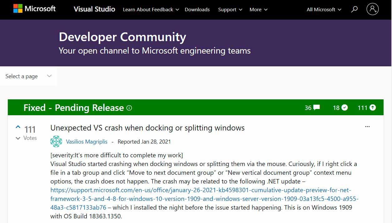 Windows 10 tiene problemas con sus últimas actualizaciones