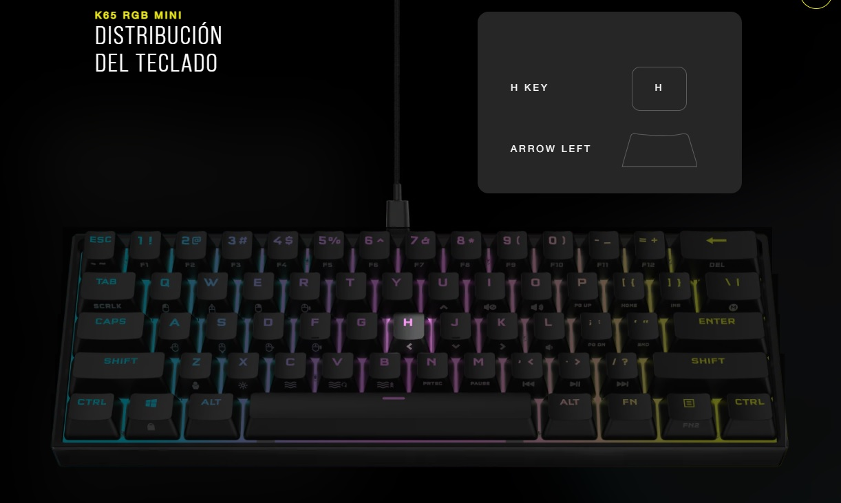 Corsair K65 RGB Mini 60%