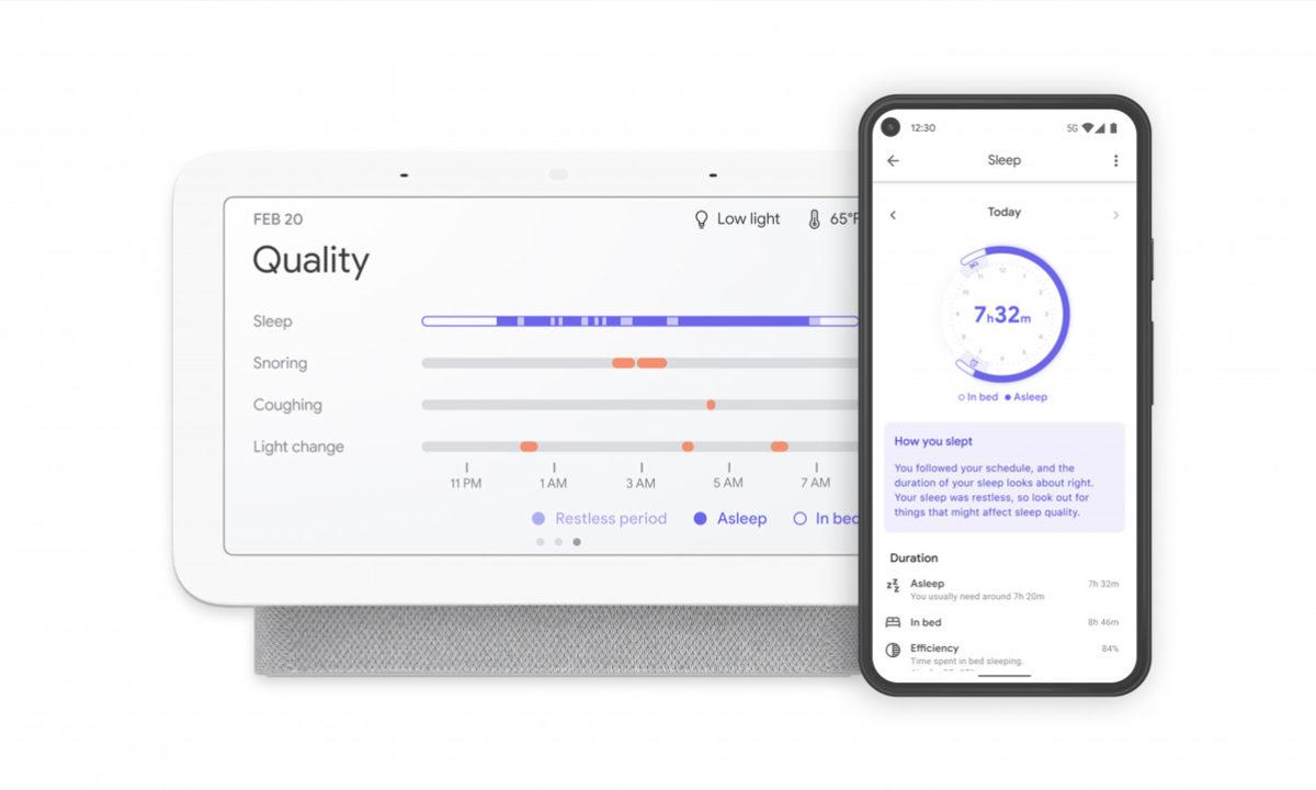 Google Nest Hub seguimiento del sueño app