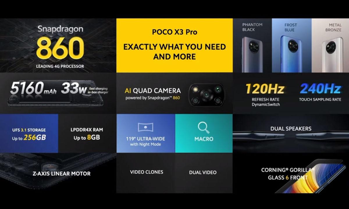 POCO X3 PRO Especificaciones