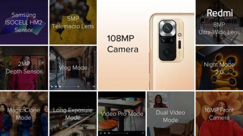Redmi Note10 Pro Camara