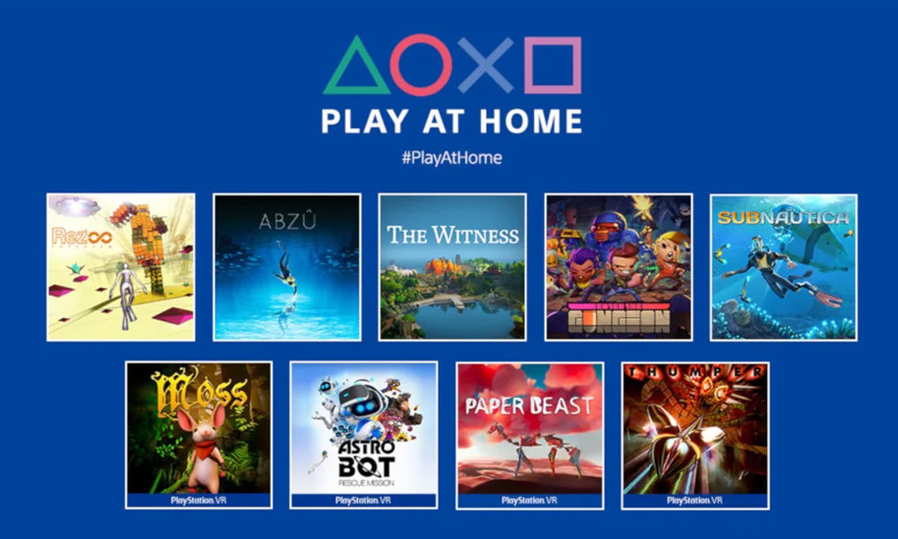 Sony PS4 PSVR Play at Home juegos gratis