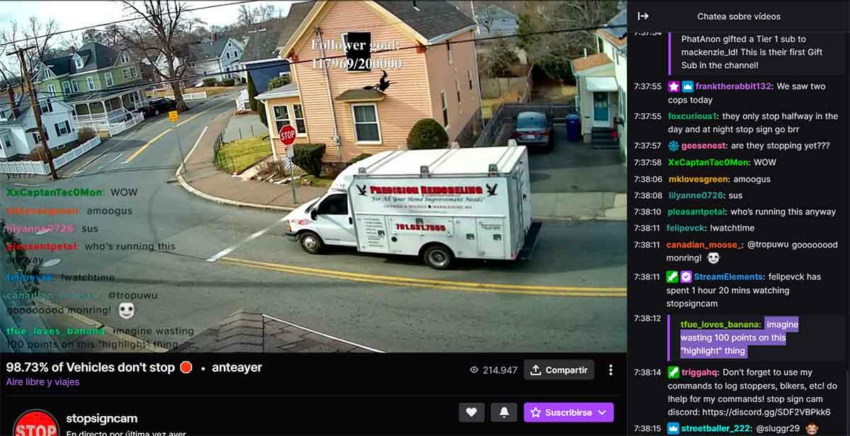 La última sensación en Twitch: observar un Stop que nadie respeta