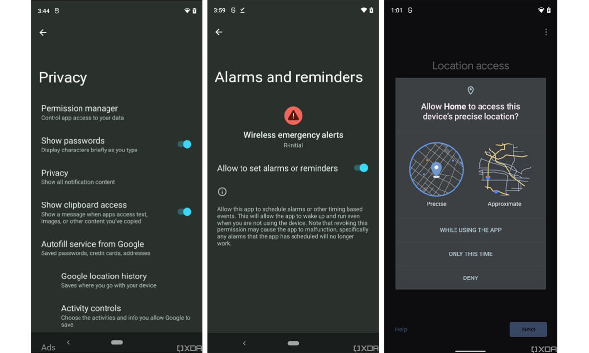 Android 12 privacidad