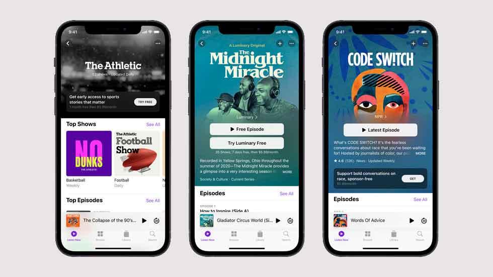 Spotify ya prepara su respuesta a Apple Podcast+