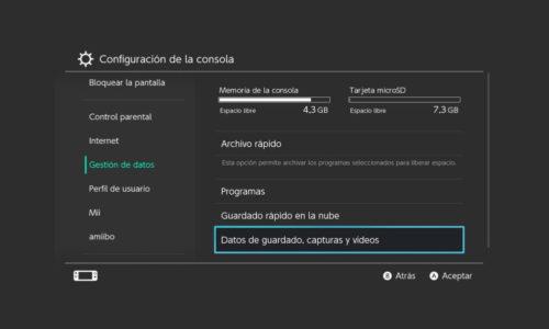 Cómo exportar capturas y vídeos Nintendo Switch