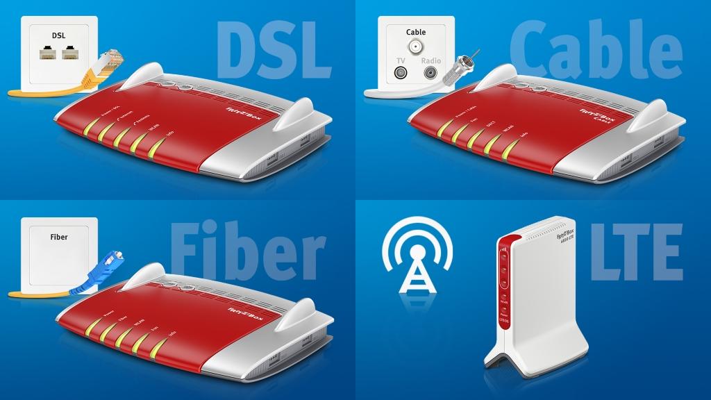 Internet por cable o por Wi-Fi