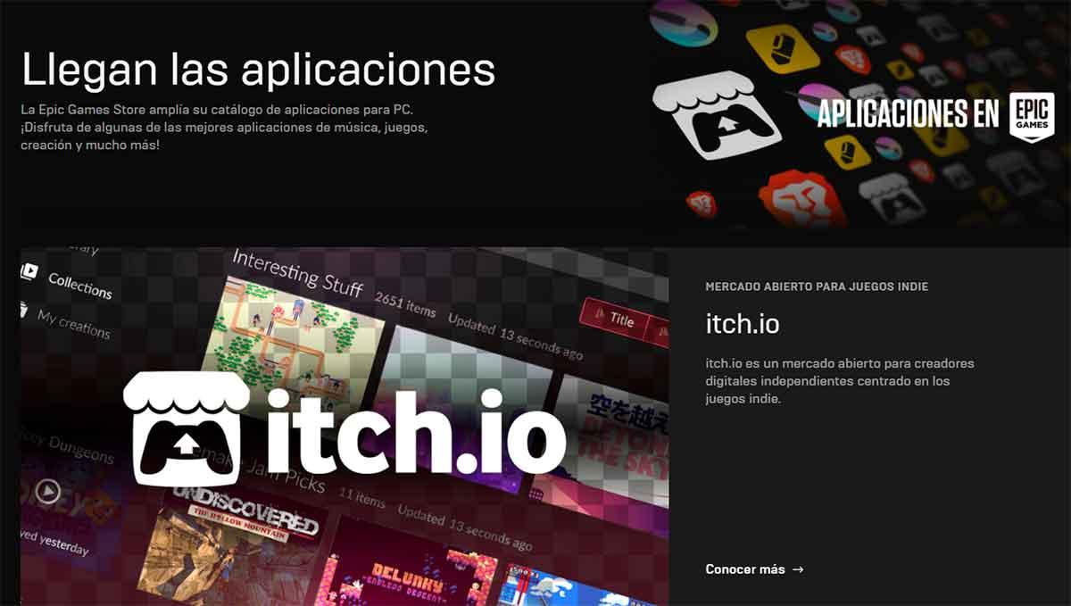 Itch.io ahora disponible en Epic Games Store