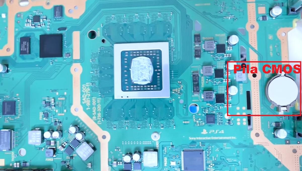 problema de la pila CMOS en PS4 y PS5