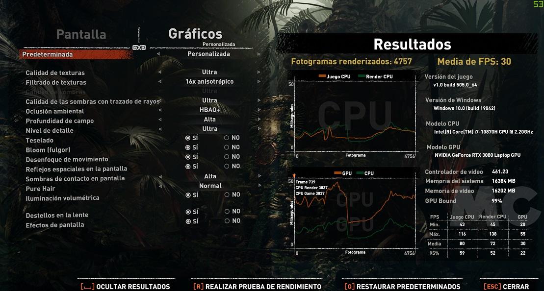 GeForce RTX 30 Mobile a prueba: Valor más allá de la potencia bruta 42