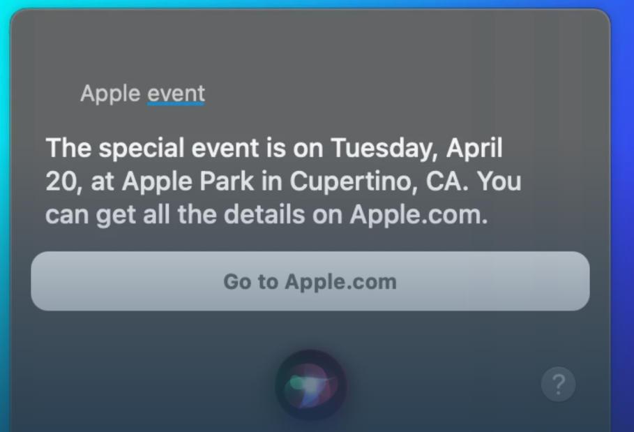 próximo evento de Apple