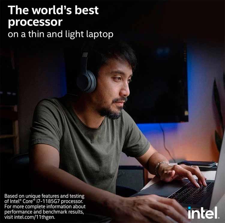 protagonista involuntario de una publicidad de Intel