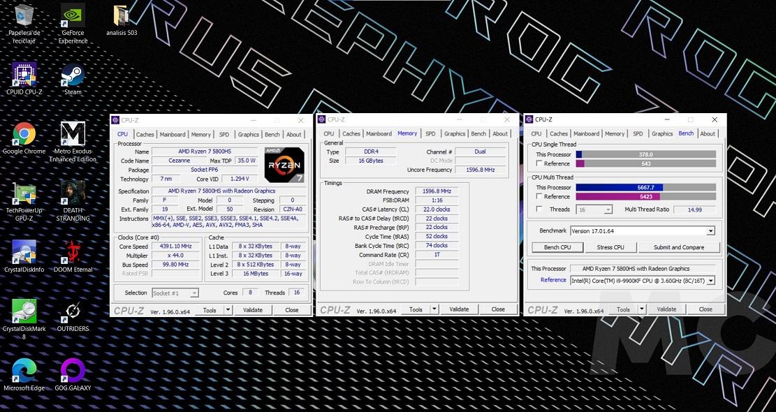 ASUS ROG Zephyrus G15 GA503, análisis: Potencia y ligereza con un toque premium 60