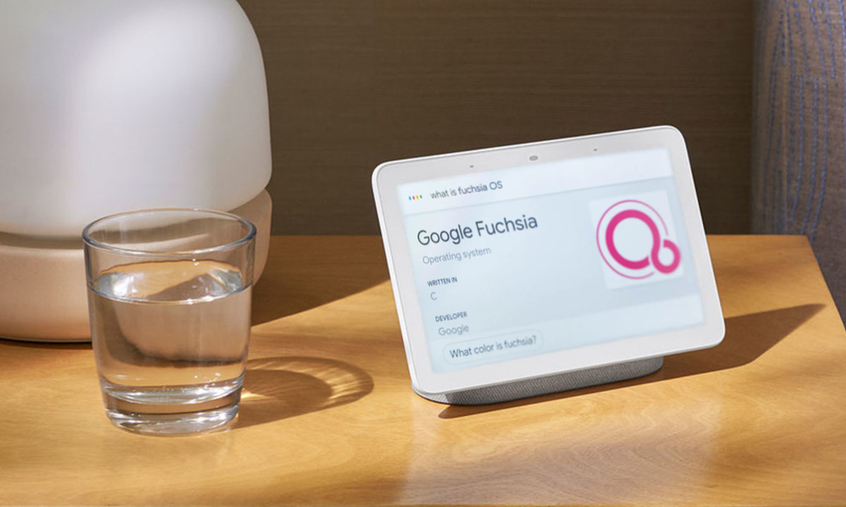 Google Fuchsia OS aterriza en Nest Hub