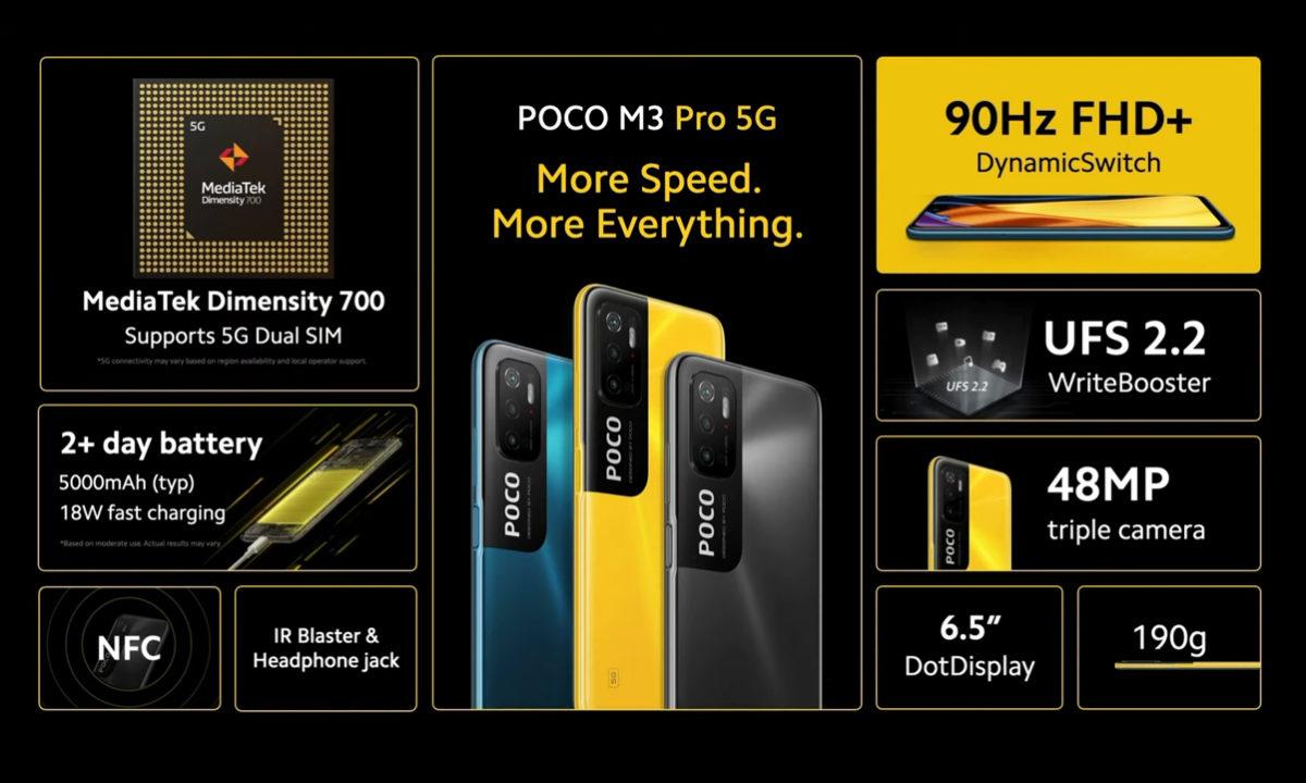 POCO M3 Pro 5G especificaciones