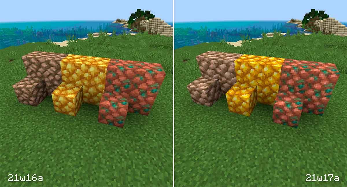 Minecraft 1.17: de espaguetis a fideos