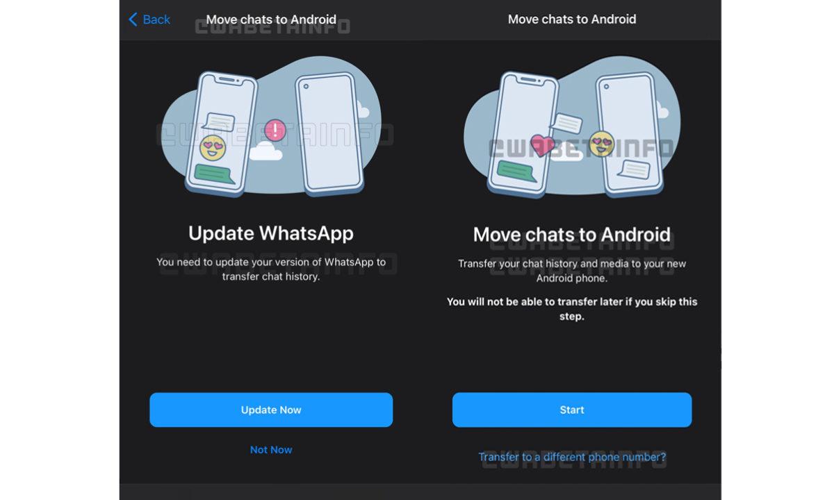 WhatsApp migrar chats a un nuevo número de teléfono