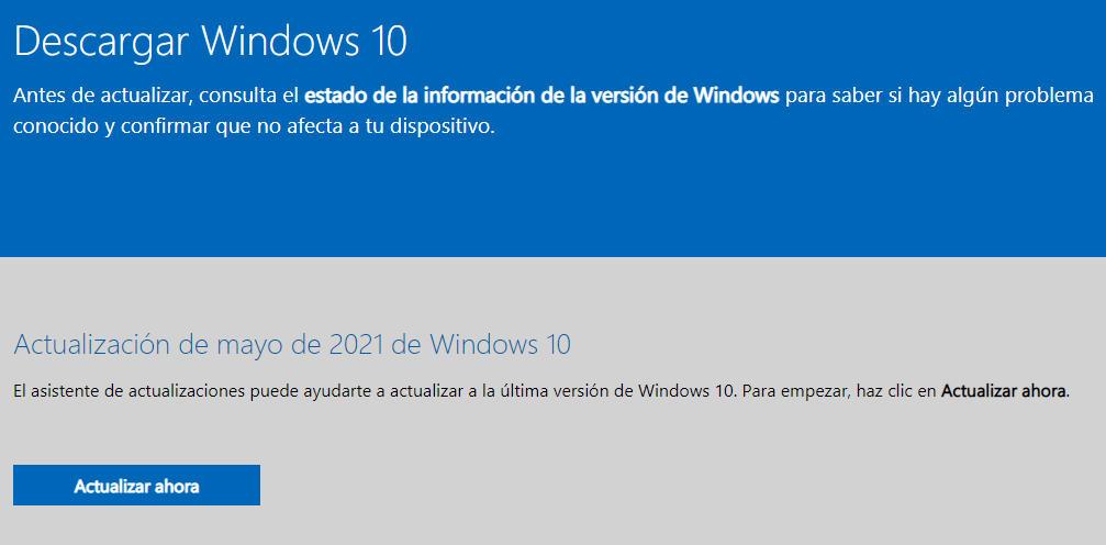 Windows 10 Mayo 2021