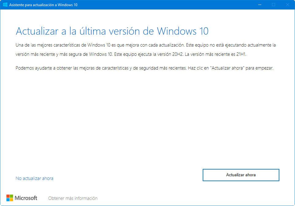 Microsoft publica la Actualización de mayo de 2021 de Windows 10 32