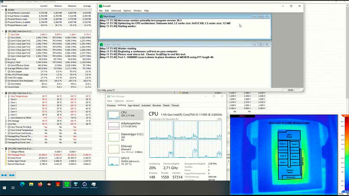 Intel Core i5-11400: ¿podría funcionar sin disipación de calor?