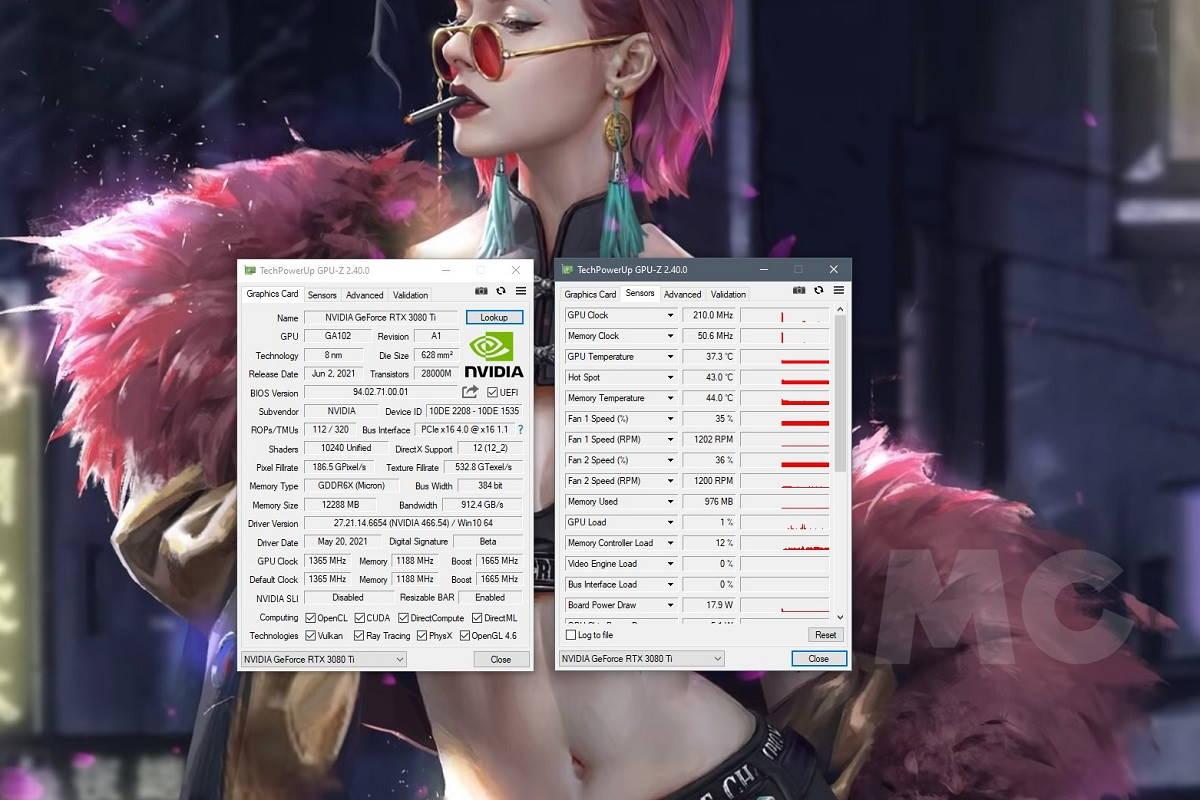 Captura GPU Z RTX 3080 ti
