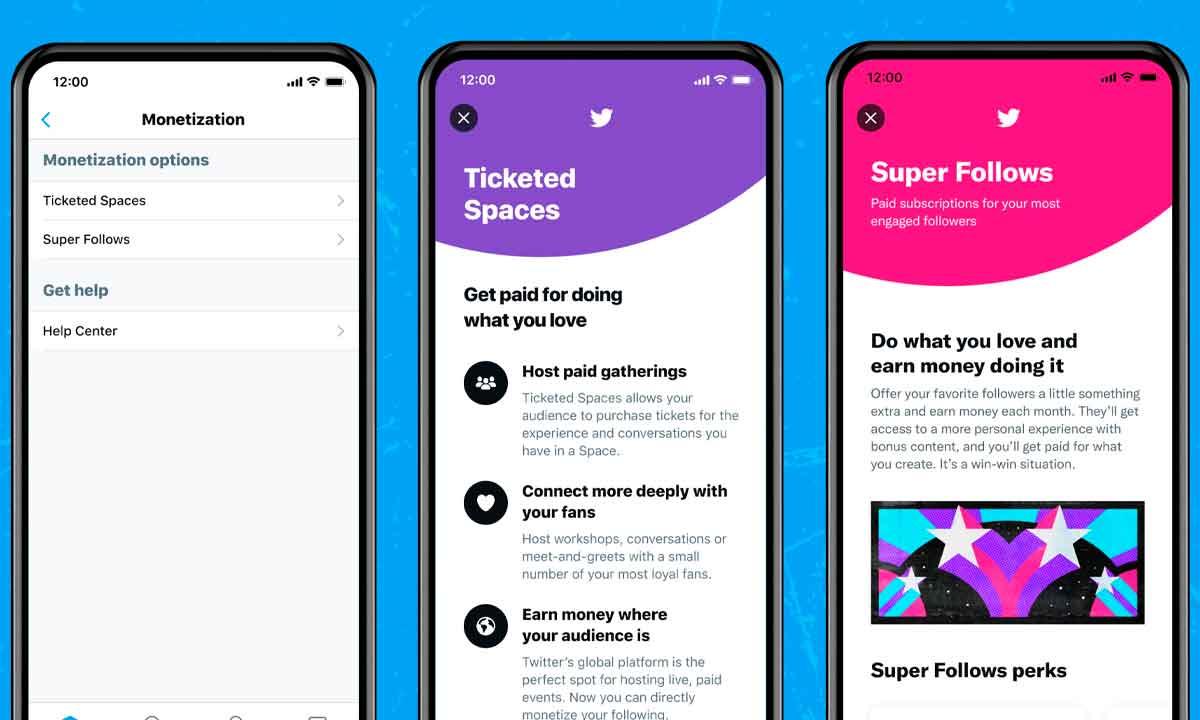 Twitter estrena los Super Follows y los Ticketed Spaces