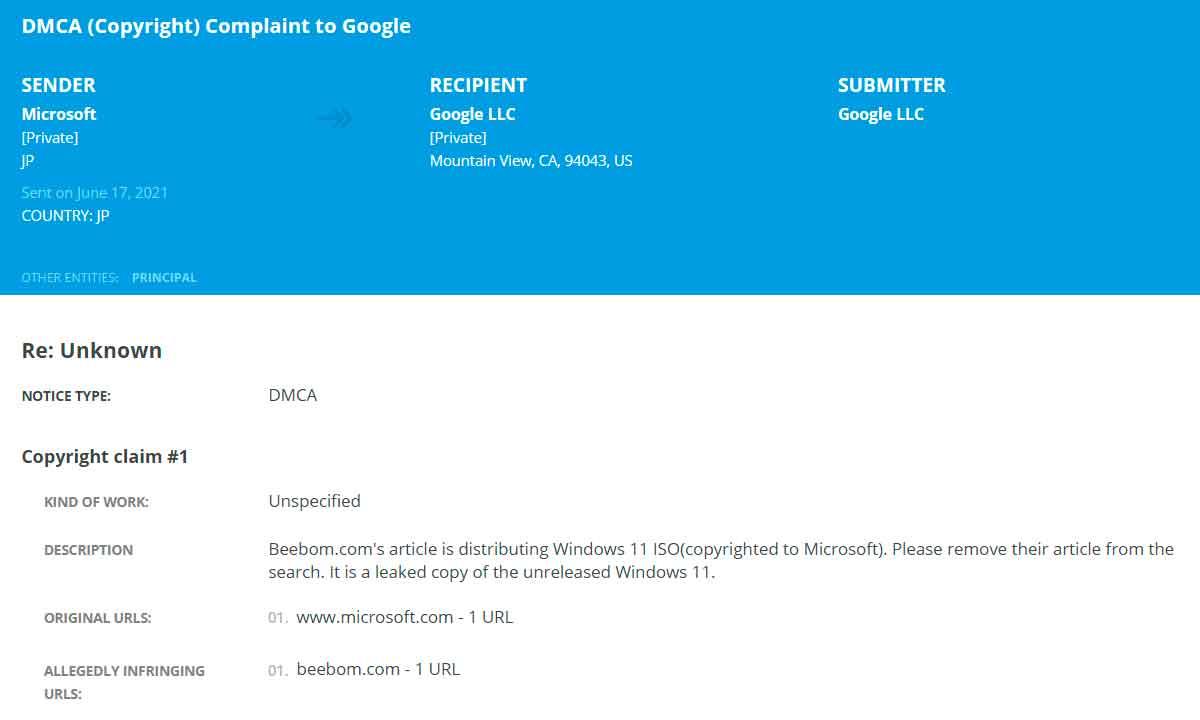 Windows 11: se confirma la autenticidad de la build 21996.1