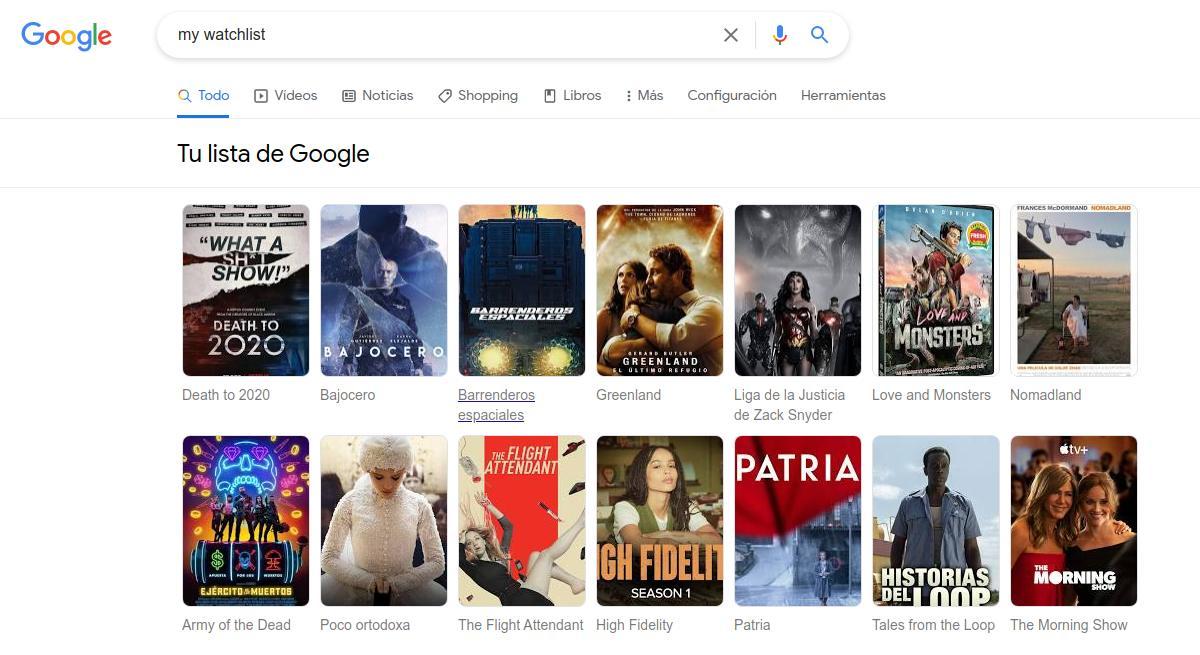 Tu lista de Google