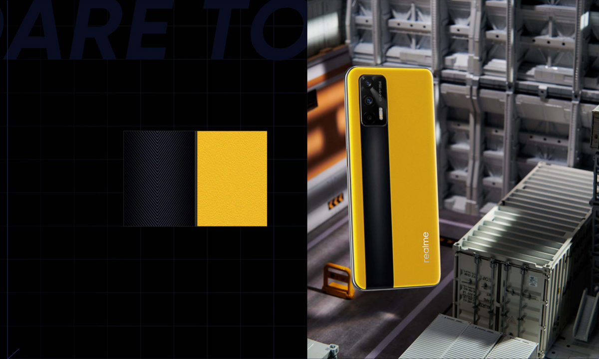 realme gt 5G diseño colores